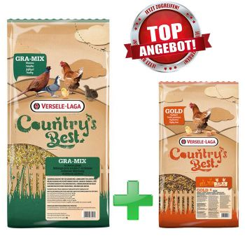 GRA-MIX Ardenner Mischung 20kg + Country's Best Gold 4 Mix, 5kg